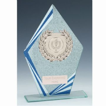 KB044 Pointed Textured Glass Award